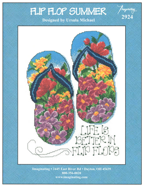 Imaginating Flip Flop Summer 2924 cross stitch pattern