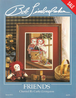 Just Crossstitch Friends Raggety Anne and Andy Cross stitch pattern
