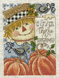 Imaginating Full of Thanks and Giving Thanksgiving cross stitch pattern