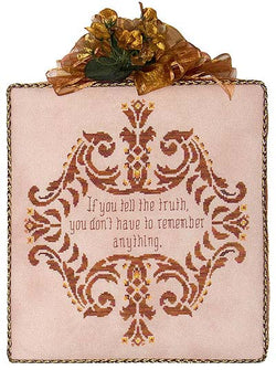 Glendon Place Words of wisdom about truth cross stitch pattern
