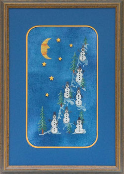 glendon place Midnight on Snowmans hill christmas cross stitch pattern
