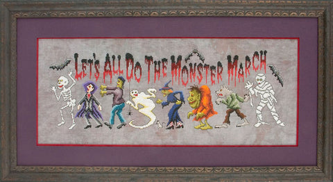 Glendon Place Monster March GP-147 Halloween cross stitch pattern