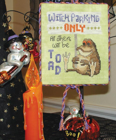 Glendon Place Witch Parking Only GP-182 cross stitch pattern