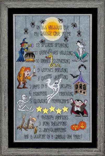 Glendon Place All Hallows Eve GP192 Halloween cross stitch pattern