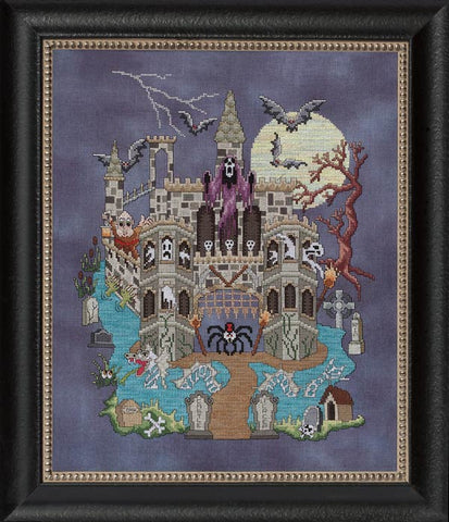 Glendon Place Castle Le Creep GP-200 halloween cross stitch pattern