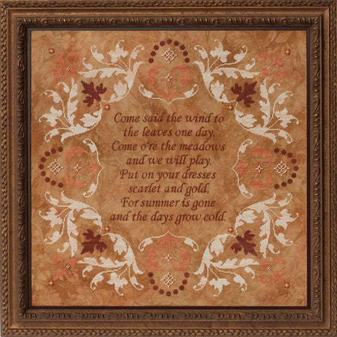 Glendon Come Said the Wind GP-203 Autumn cross stitch pattern
