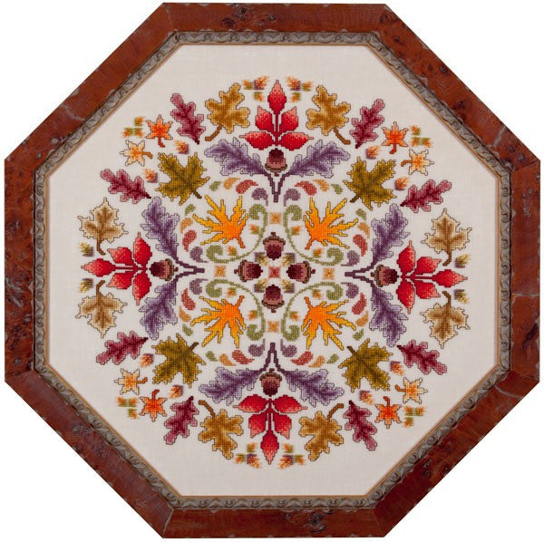 glendon place Midnight on Autumn ala Round cross stitch pattern