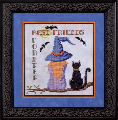 Glendon Place Best Friends Forever GP-215 Halloween cross stitch pattern