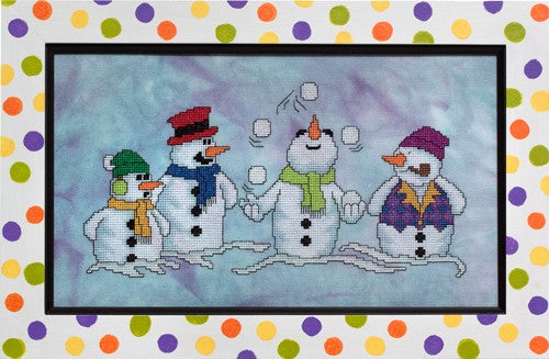 Glendon Place Snow Pals GP-231 snowman cross stitch pattern