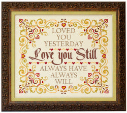 Glendon Place Love You Still GP-241 Romantic cross stitch pattern