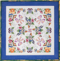Glendon Place Violaceae GP-262 flower cross stitch pattern