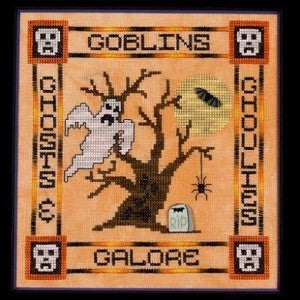 Glendon Place Goblins, Ghosts & Ghoulies GP-158 halloween cross stitch pattern