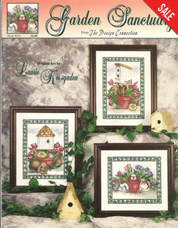 Design Connection Garden Sanctuary cross stitch pattern