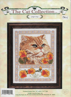 Cross My Heart Ginger Snap cat collection cross stitch pattern
