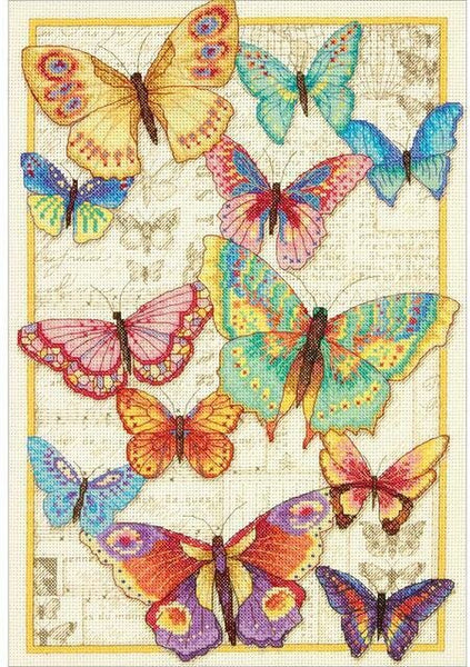 Dimensions Gold Collection Butterfly Beauty 70-35338 cross stitch kit