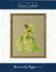 Nora Corbett Green Lady Slipper NC273 cross stitch pattern