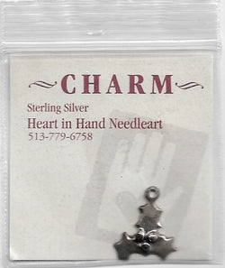 Heart in Hand Holly Leafs HIHCH3 sterling silver charm