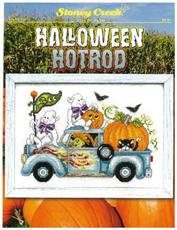 Stoney Creek Halloween Hotrod LFT509 cross stitch pattern