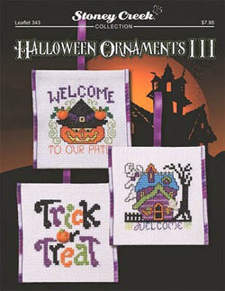 Stoney Creek Halloween Ornaments III LFT343 cross stitch pattern