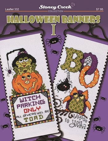 Stoney Creek Halloween Banners I LFT332 cross stitch booklet