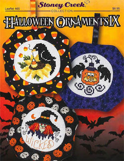 Stoney Creek Halloween Ornaments IX LFT465 cross stitch pattern