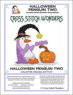 Cross Stitch Wonders Marcia Manning Halloween Penguin Two Cross stitch pattern