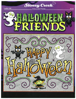 Stoney Creek Halloween friends LFT496 cross stitch pattern