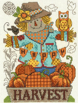 Imaginating Happy Harvest Scarecrow 3176 cross stitch pattern