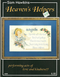 Sam Hawkins Heaven's Helpers angel cross stitch pattern