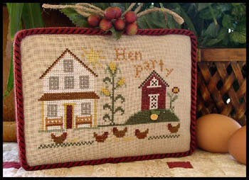 Little House Needleworks Hen Party All Dolled Up cross stitch pattern