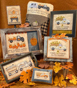 Sue Hillis Home for the Harvest thanksgiving cross stitch pattern