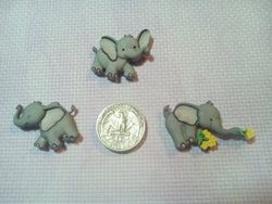 Baby Elephant needle minders for cross stitch