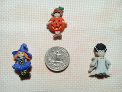 Halloween girls cross stitch needle minders
