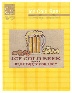 Amy Bruecken Ice Cold Beer cross stitch pattern