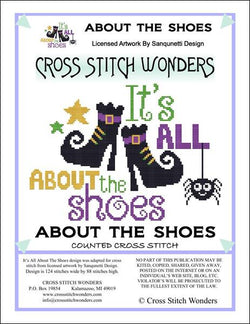 Cross Stitch Wonders Marcia Manning It's All About The Shoes Cross stitch pattern