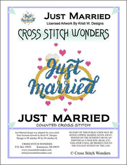 Cross Stitch Wonders Carolyn Manning Just Married Cross stitch pattern