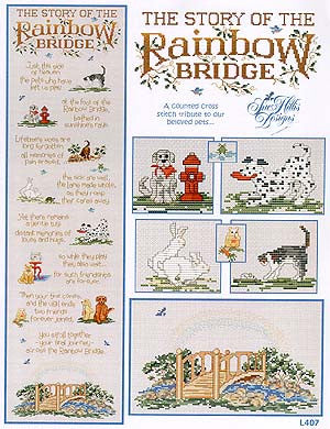 Sue Hillis Story of the rainbow bridge cross stitch pattern