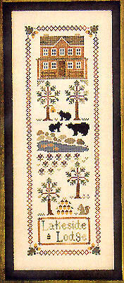 Little House Needleworks Lakeside Lodge cross stitch pattern