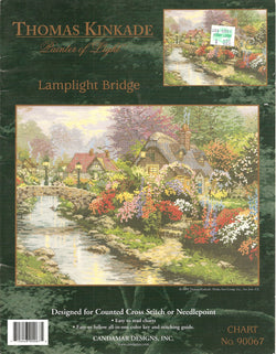 Candamar Designs Lamplight Bridge Thomas Kinkade cross stitch pattern
