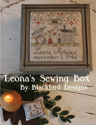 Blackbird Designs Leona's Sewing Box cross stitch pattern