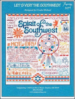 Imaginating Let's Visit the Southwest 3177 cross stitch pattern