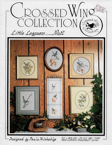 Crossed Wing Collection Little Leaguers 12 bird cross stitch pattern