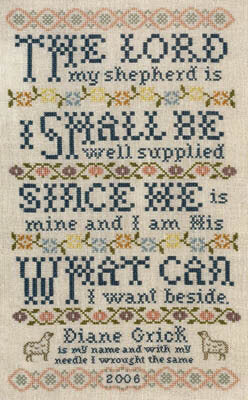 Silver Creek Samplers Lord is my Shepherd religious cross stitch pattern