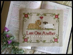 Little House Needleworks Love One Another cross stitch pattern