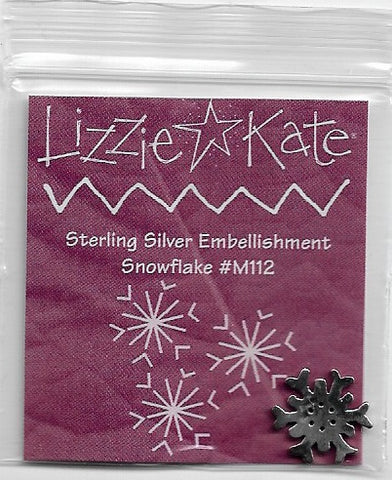 Sterling Silver charm M112  Lizzie Kate Winter Wishes LK-S67 cross stitch pattern