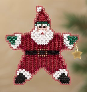 Mill Hill Star Santa 18-1301 beaded cross stitch kit