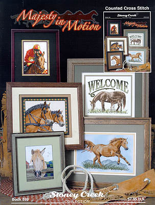 Stoney Creek Majesty in Motion BK393 horse cross stitch booklet