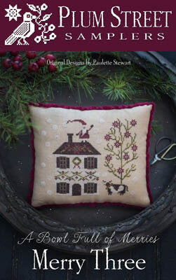 Plum Street Merry Three cross stitch pattern