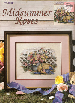 Leisure Arts Midsummer Roses LS2246 cross stitch pattern