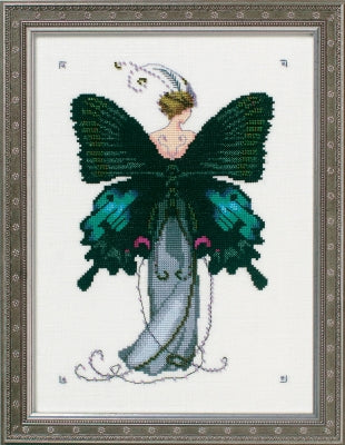 Mirabilia Miss Black Swallowtail NC243 Butterfly Misses cross stitch